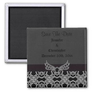 Gothic Jewel & Diamonds Save The Date Wedding Fridge Magnets