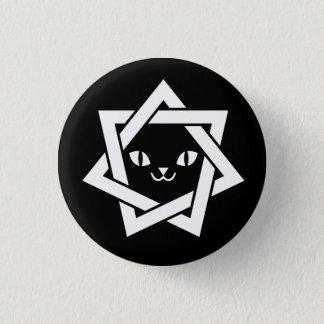 Gothic Kawaii Cat Face Star Pinback Button