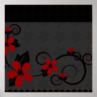 Gothic Kimono Design Poster