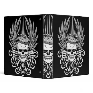 Gothic King Skull binder