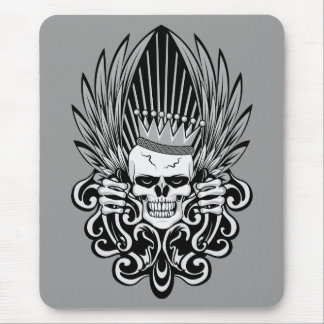 Gothic King Skull Mouse Pad