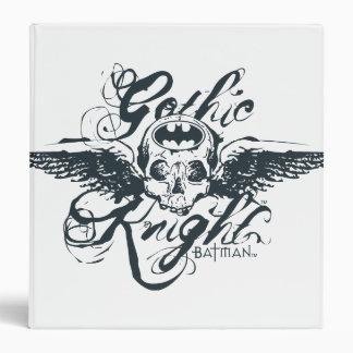 Gothic Knight Skull 3 Ring Binders