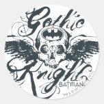 Gothic Knight Skull Sticker