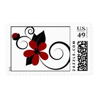 Gothic Kokeshi Flower Postage