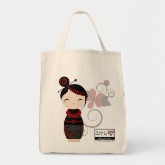Gothic Kokeshi Grocery Tote Tote Bag