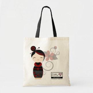 Gothic Kokeshi Tote Budget Tote Bag