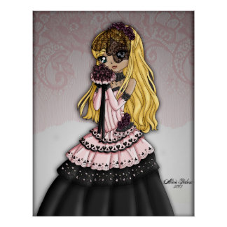 Gothic Lace Bride - Blonde Posters