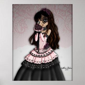 Gothic Lace Bride - Dark Brunette Print