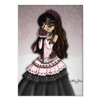 Gothic Lace Bride Invitation 1