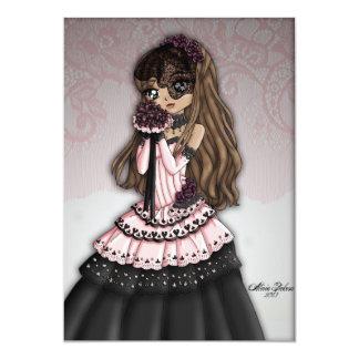 Gothic Lace Bride Invitation 2