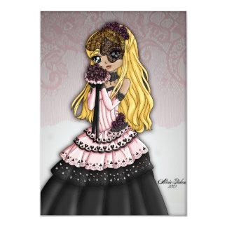 Gothic Lace Bride Invitation 3