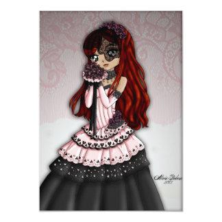 Gothic Lace Bride Invitation 4