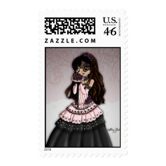 Gothic Lace Bride Postage 1