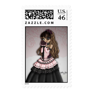 Gothic Lace Bride Postage 2