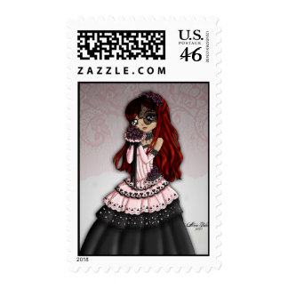 Gothic Lace Bride Postage 4