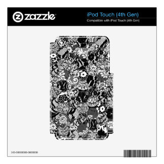gothic lace iPod touch 4G decals