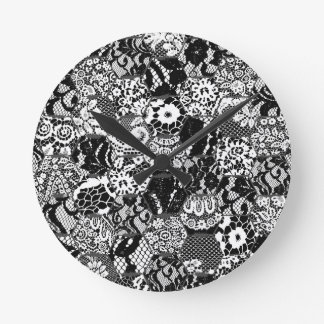 gothic lace round clock