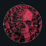 "Gothic lace skull in deep red. dart board<br><div class=""desc"">Gothic lace skull in deep red and black color palette.</div>"