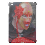 Gothic Lady in a Red and Gold Mask iPad Case