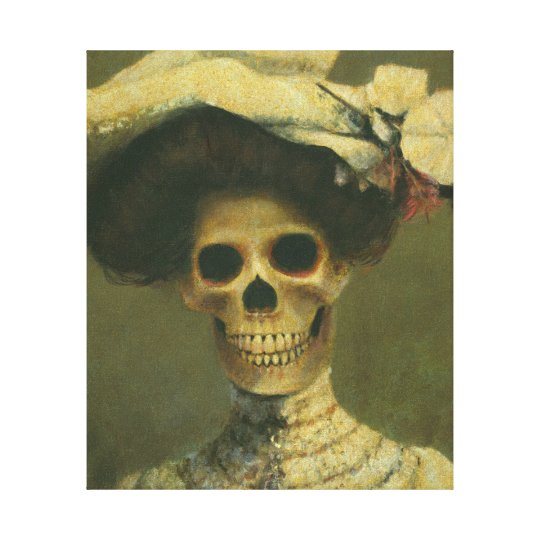 Gothic Lady Skeleton Canvas Print