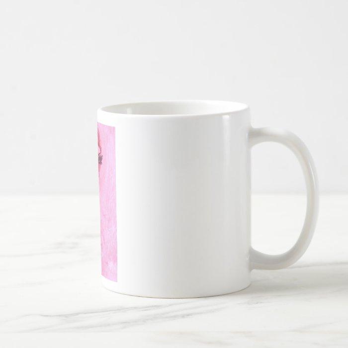Gothic lady with pentagram coffee mug
