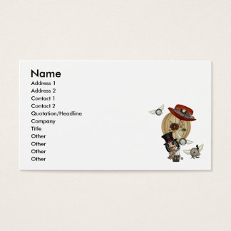 gothic laveau hot air balloon steampunk art business card