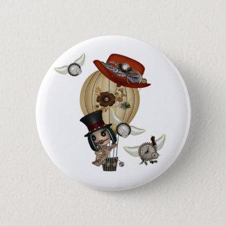 gothic laveau hot air balloon steampunk art button
