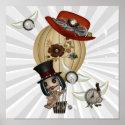 gothic laveau hot air balloon steampunk art print
