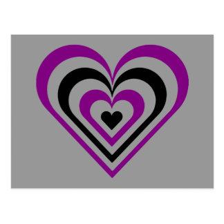 Gothic Layered Heart Postcard