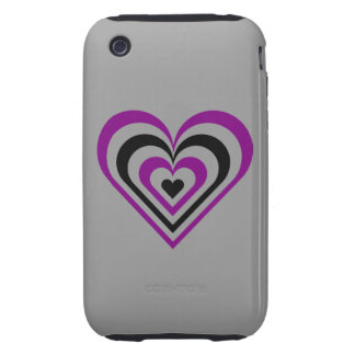 Gothic Layered Heart Tough iPhone 3 Case