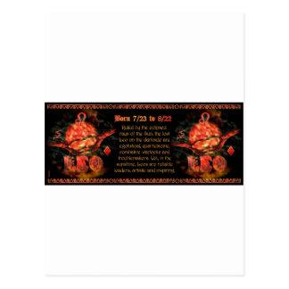 Gothic Leo zodiac astrology by Valxart.com Postcard