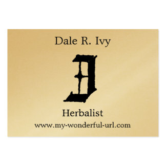 """Gothic Letter """"I"""" Classic English Initial Large Business Cards (Pack Of 100)"""