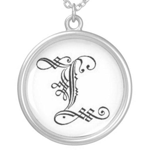 Gothic Letter L Necklace