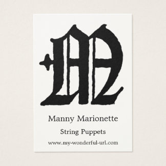 "Gothic Letter ""M"" Classic English Initial Business Card"