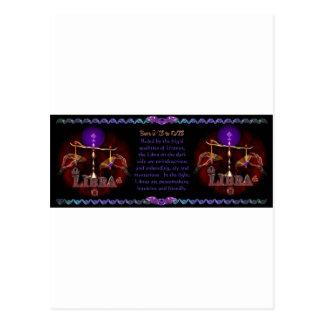 Gothic Libra zodiac astrology by Valxart.com Postcard