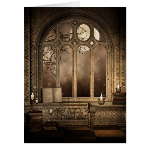 Gothic library window 18x24 big card zazzle for 18 x 24 window