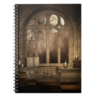 Gothic Library Window Notebook