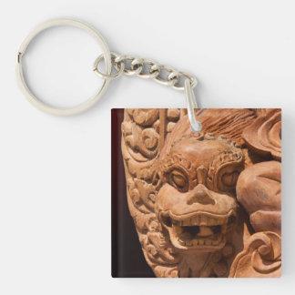 Gothic Lion Statue Keychain