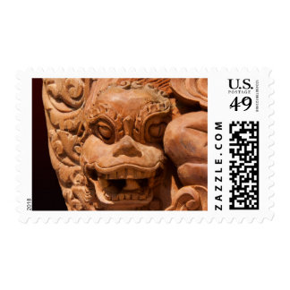 Gothic Lion Statue Postage Stamps