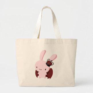 Gothic Lolita Bunny Tote Bags