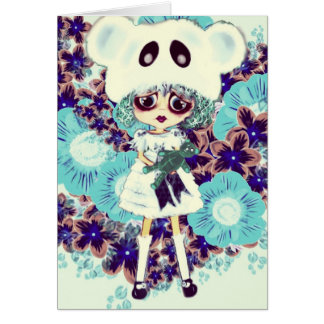 Gothic Lolita child ice Princess PinkyP - why sad? Card