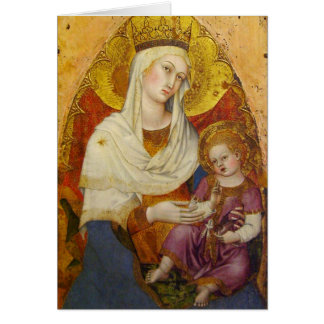 Gothic Madonna and Child card