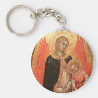 Gothic Madonna and Child keychain