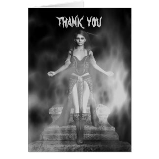 Gothic magical sexy Vampire Thank You Card