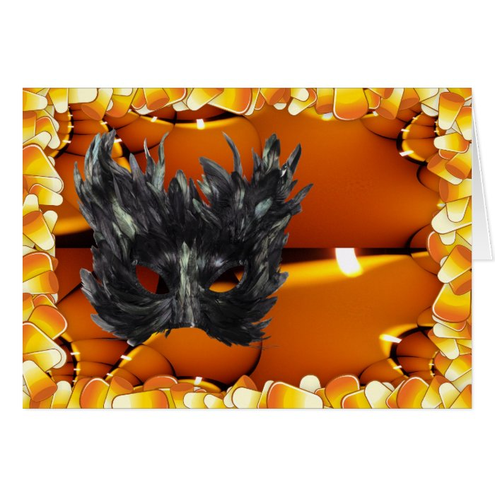 Gothic Mask Trick Or Treat Merchandise Card