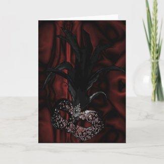 Gothic Masquerade Card or Invitation card