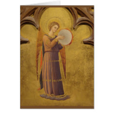 Gothic Medieval Angel Blank Card at Zazzle