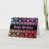 Gothic medieval Fleur de Lis colorful pattern Card