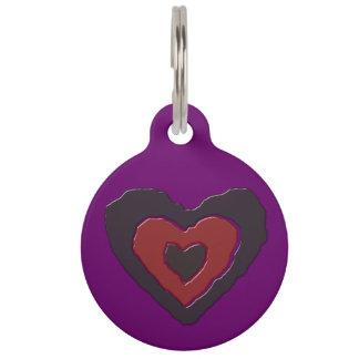 Gothic Melting Love Heart Custom Dog Tag