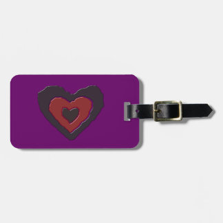 Gothic Melting Love Heart Custom Luggage Tag